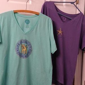2 Life is Good tshirts size XL